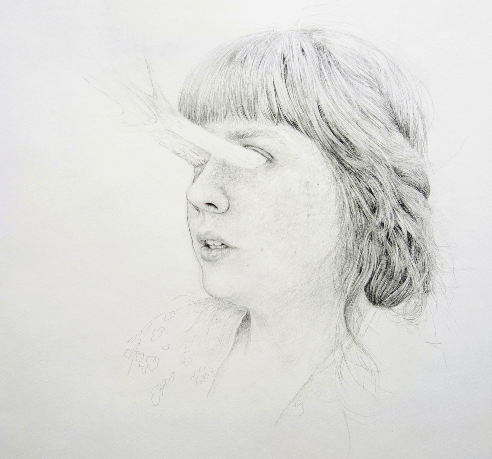 Iris, graphite on paper, 140 x 160 cm, 2012