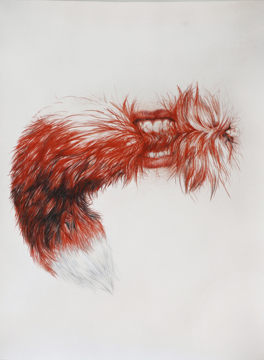 Feber, coloured pencils on paper, 130 x 103 cm, 2008